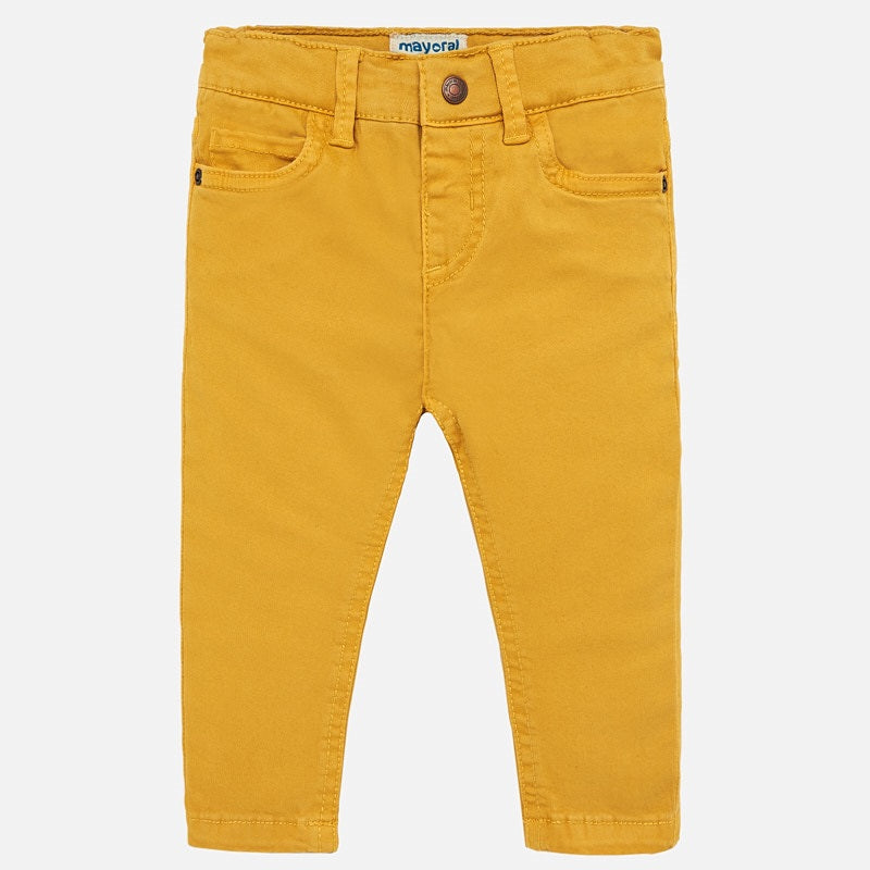 yellow slim fit trousers