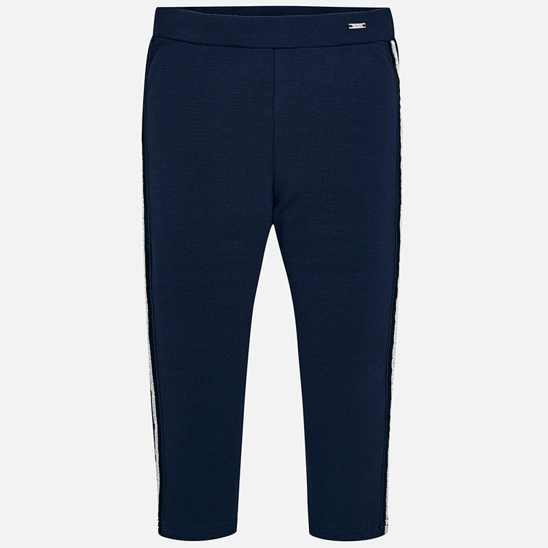navy leggings with side stripe