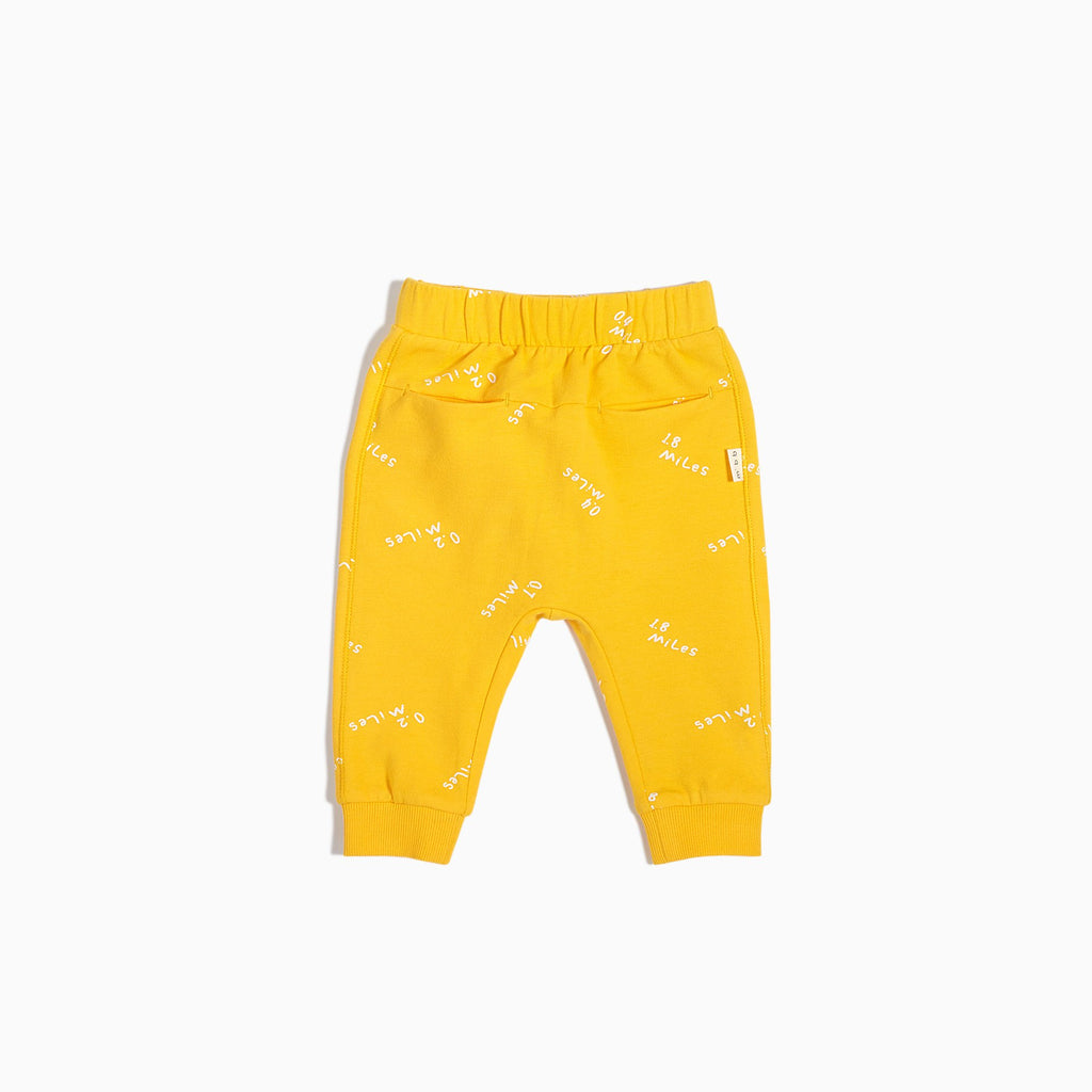 boys miles to go yellow jogger