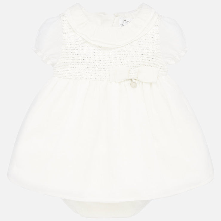 Off White Dress with Bloomers