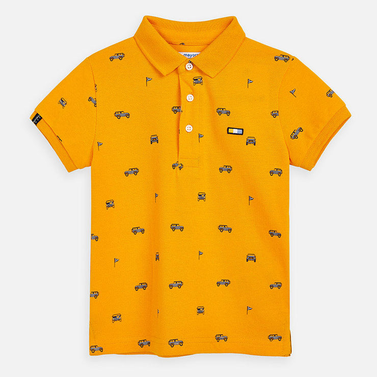 Yellow Short Sleeved Jeep Polo Shirt for Boy