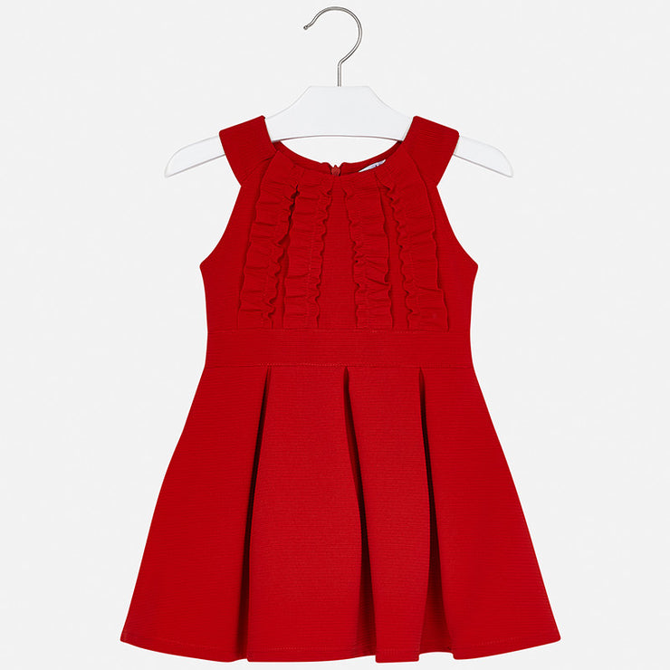 Red Ruffle Dress for Girl