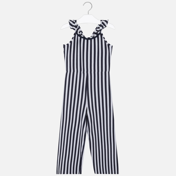 Navy Striped Jumpsuit for Big Girl