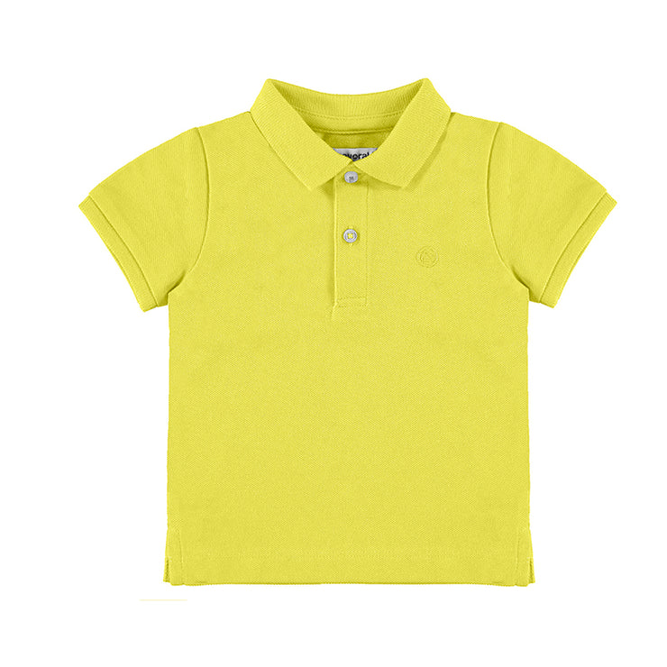 Yellow Sleeved Basic Polo Shirt for Baby Boy