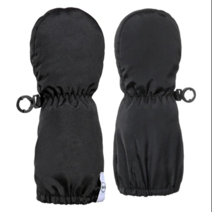 Baby Bear Long Cuff Mittens - Infants in Black