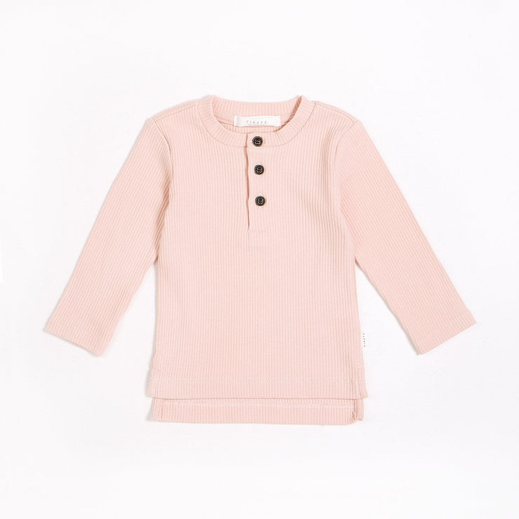 Dusty Pink Henley Top