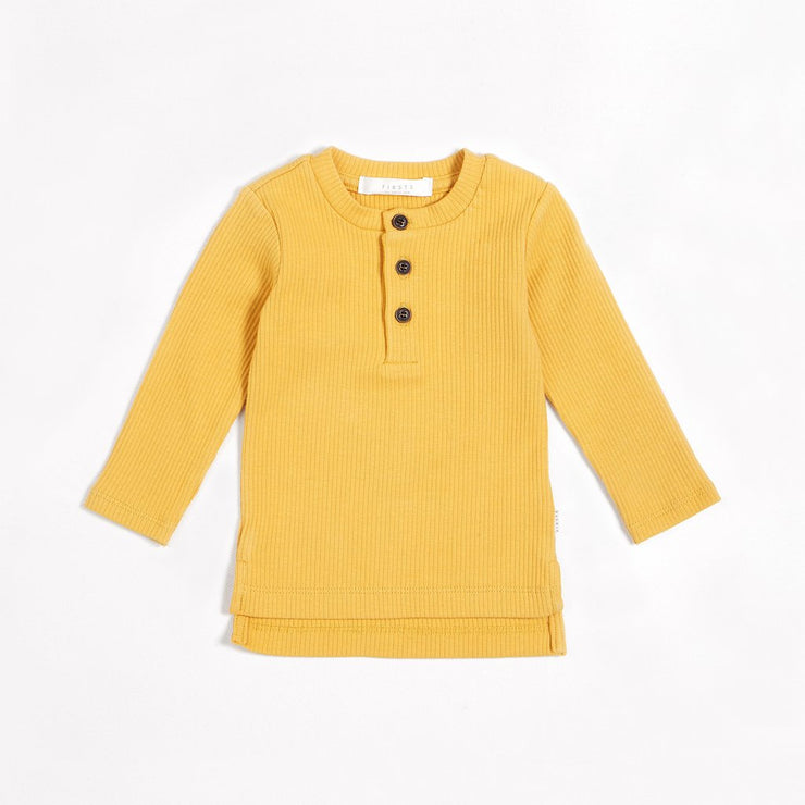 Golden Yellow Henley Baby Top