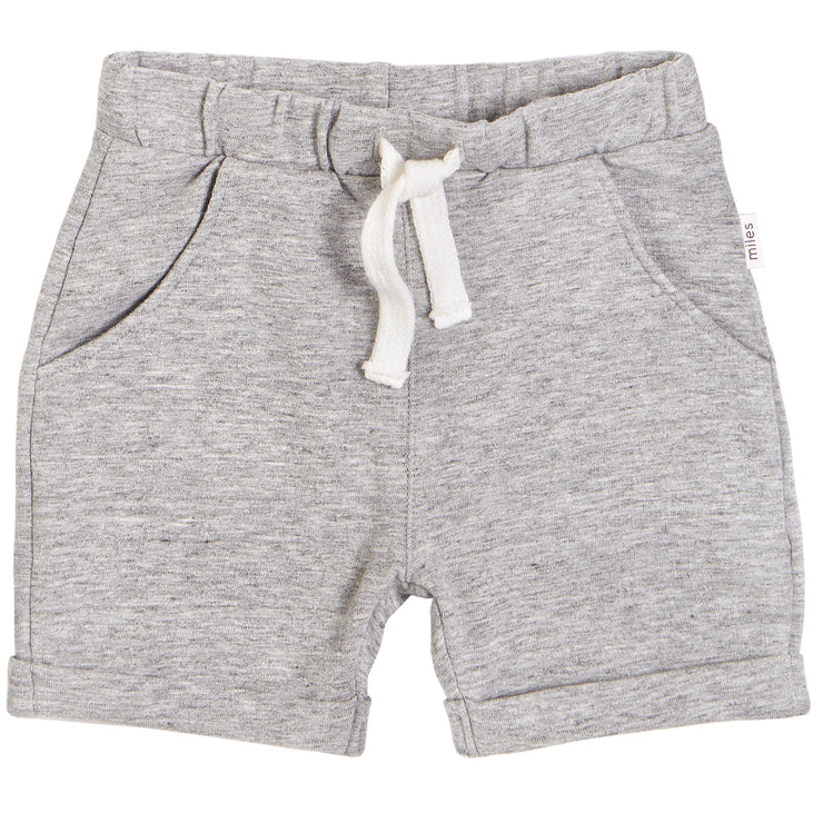 Knit Shorts in Dark Grey