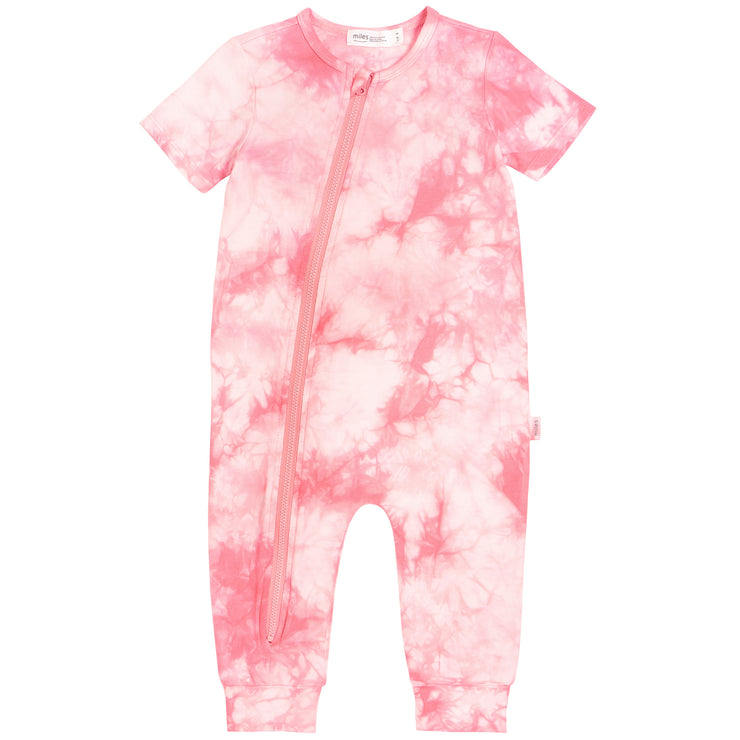 Light Coral Tie Dye Coveralls