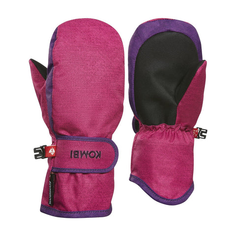bright pink denim graceful mitten
