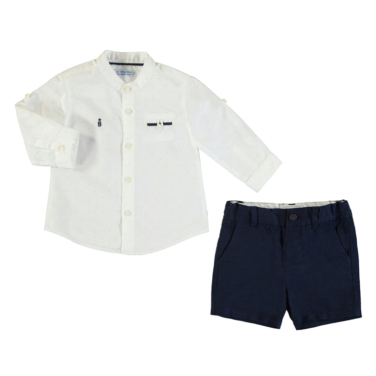 18m | Long Sleeve and Navy Short Set