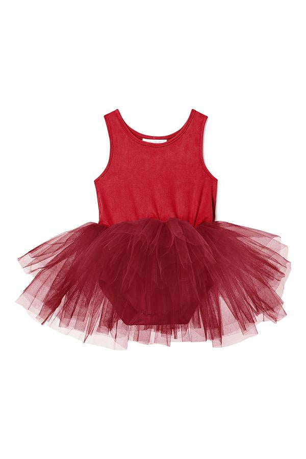 B.A.E Suede Tutu in Darcy Red