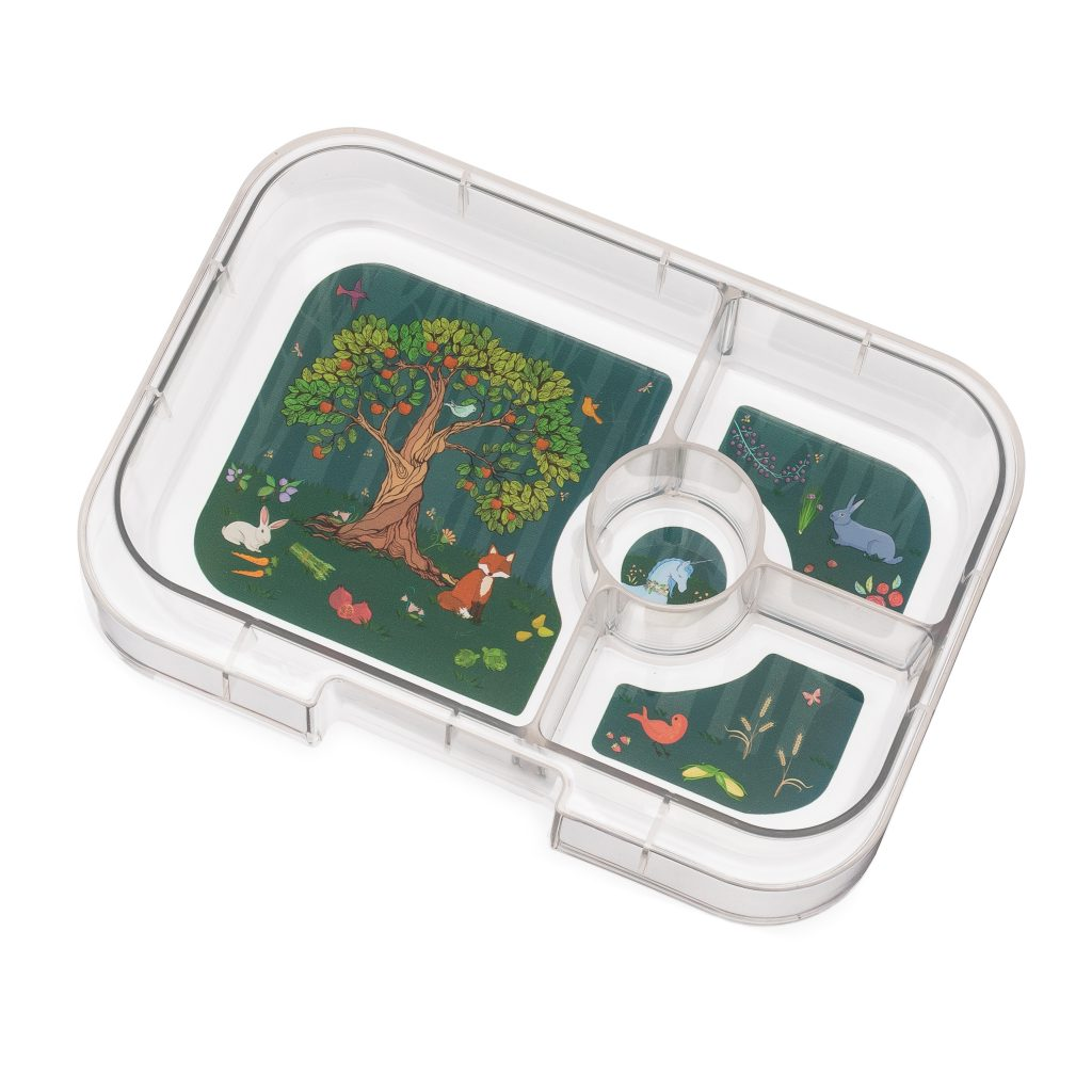 enchanted forest 4 compartment tray