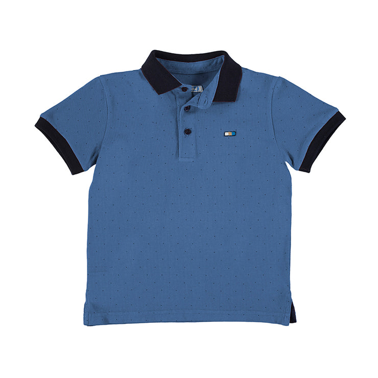 Waves Blue Polo Shirt