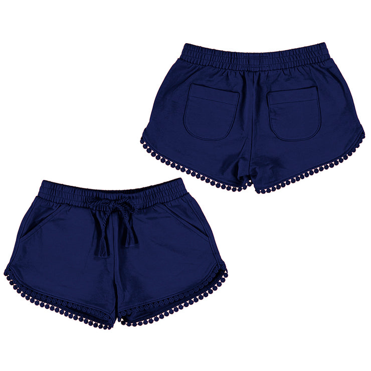 Navy Chenille Shorts
