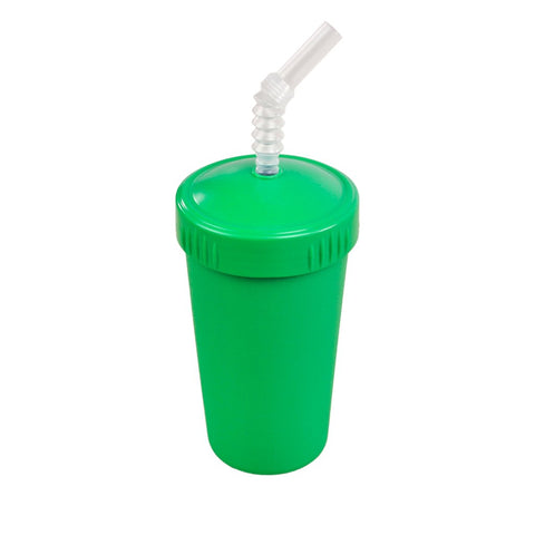 kelly green cup with straw