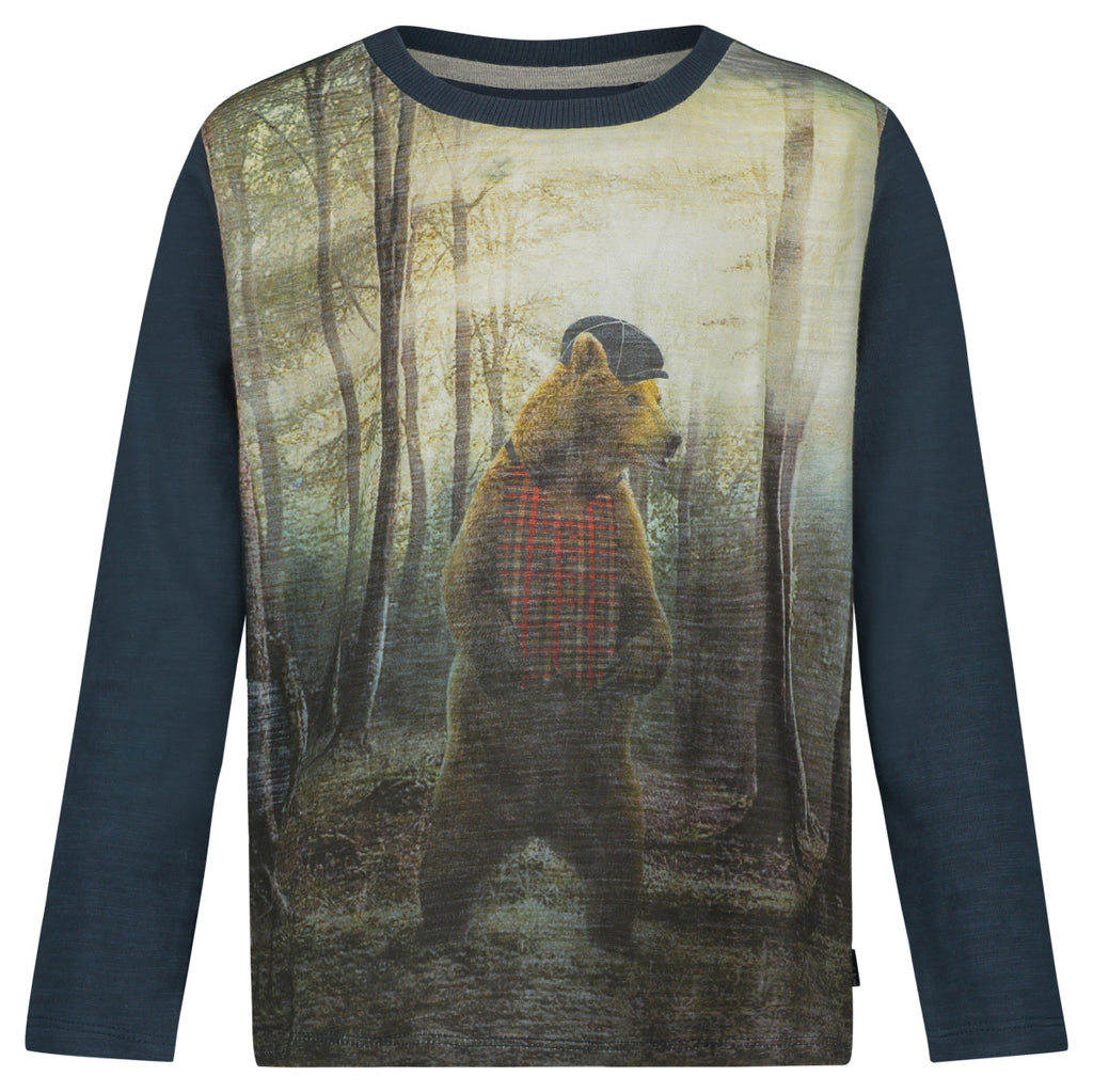 bellevue bear long sleeve shirt
