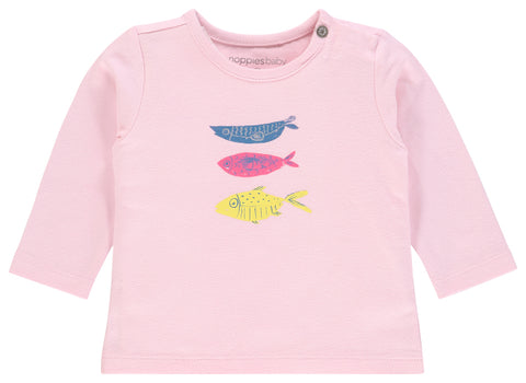 pink long sleeve rogers fish shirt