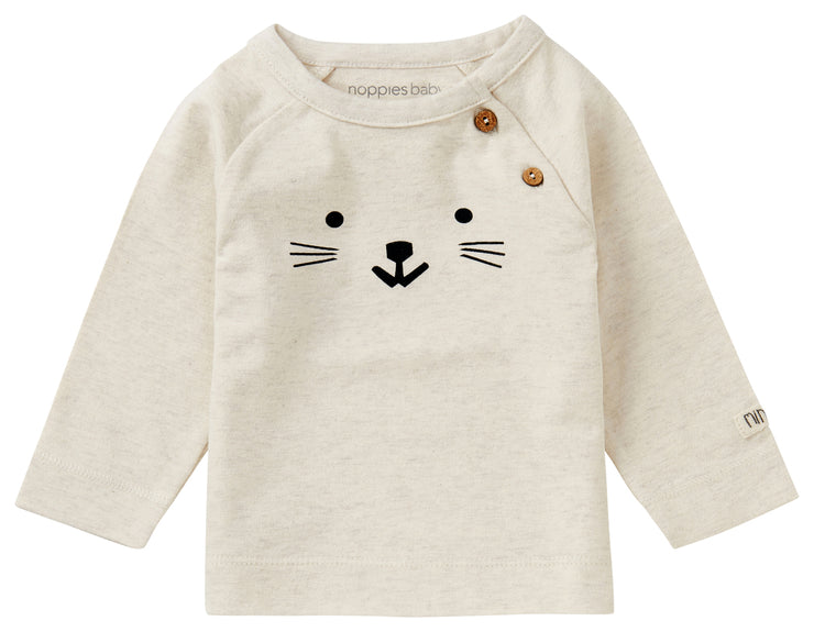 Oatmeal Cat Long Sleeve Shirt