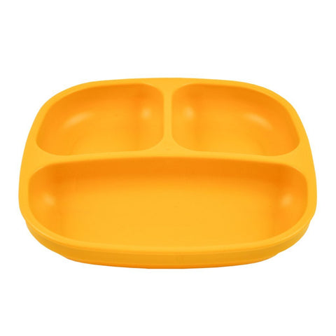 sunny yellow divided plate