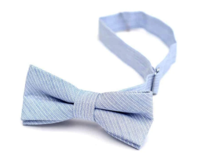 Sky Blue Stripe Bow Tie