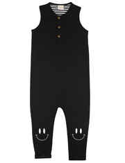 Smiley Knee Tank Dungarees