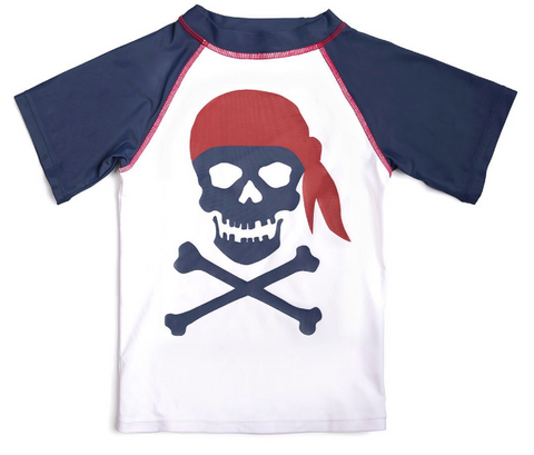 Pirate Short Sleeve Rash Guard