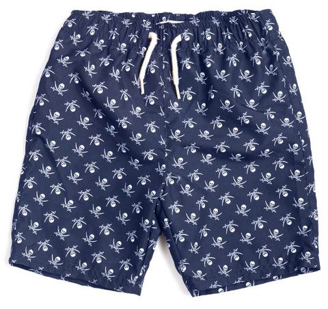 Crossbones Swim Trunks
