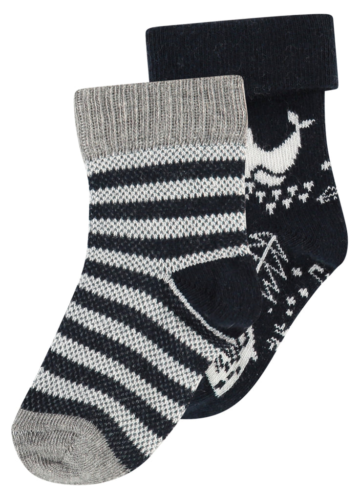 black and grey socks