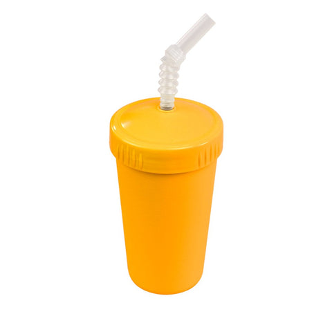 sunny yellow cup with straw