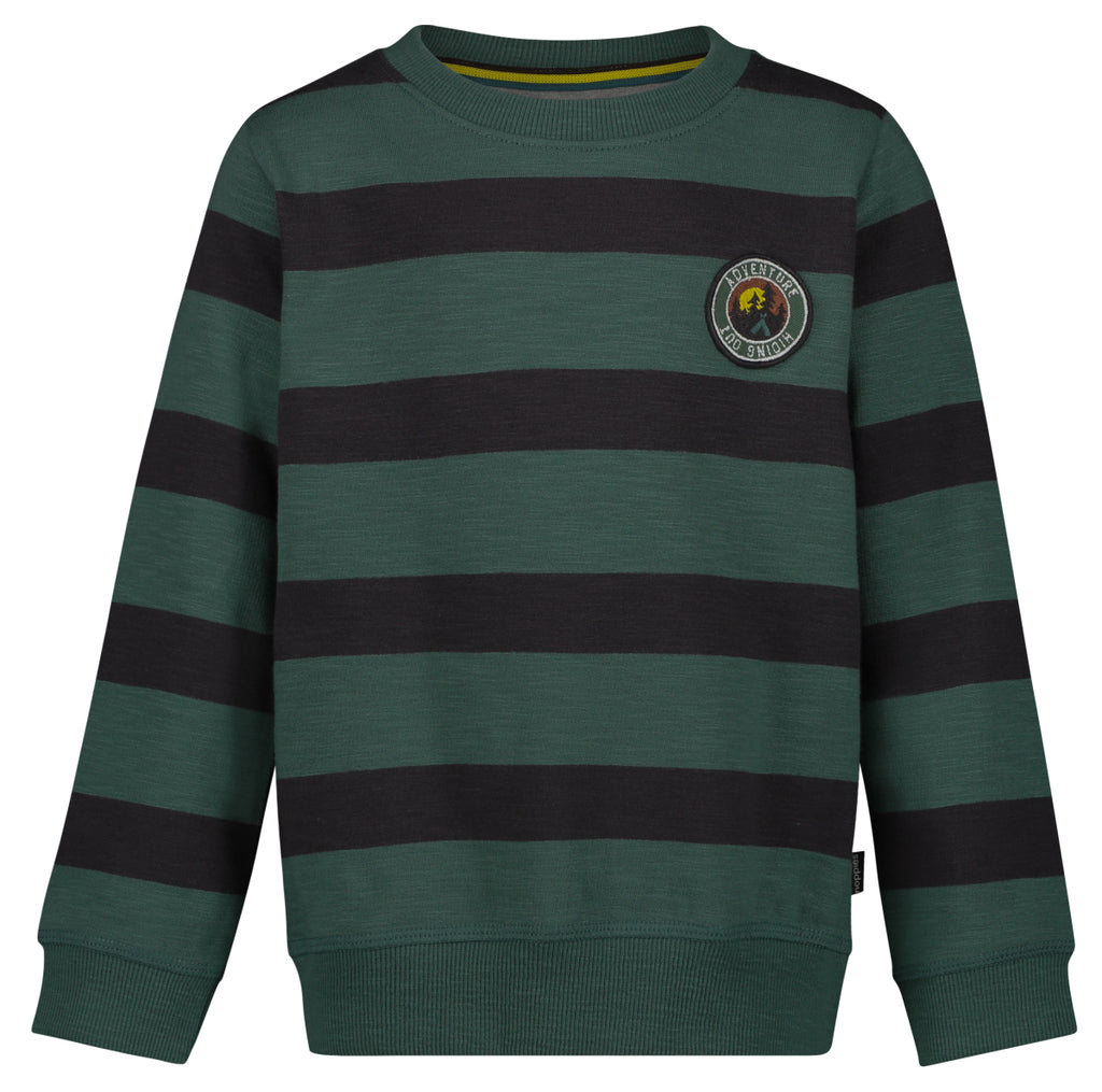 green stripe sweatshirt