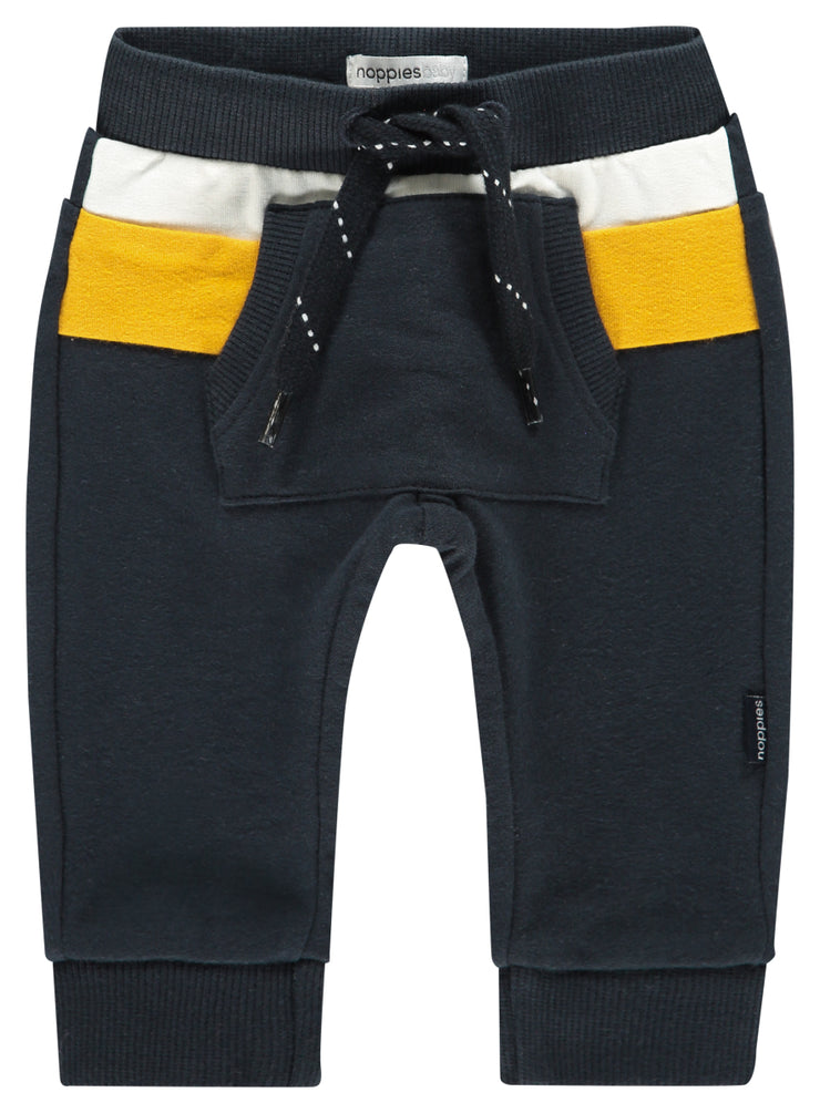 Navy and Yellow Aspen Sweat Pants