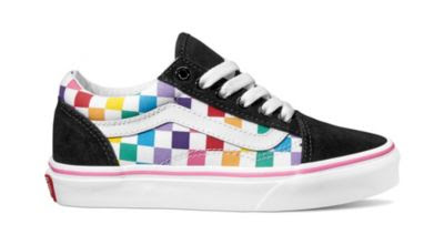 Kids Rainbow Checkerboard Old Skool