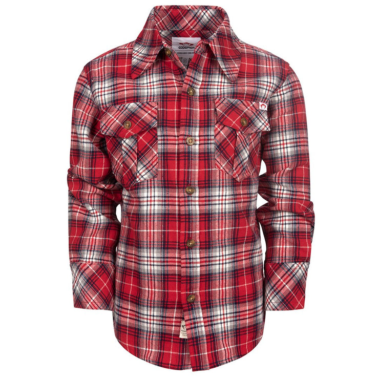 Flannel Shirt in True Red Plaid