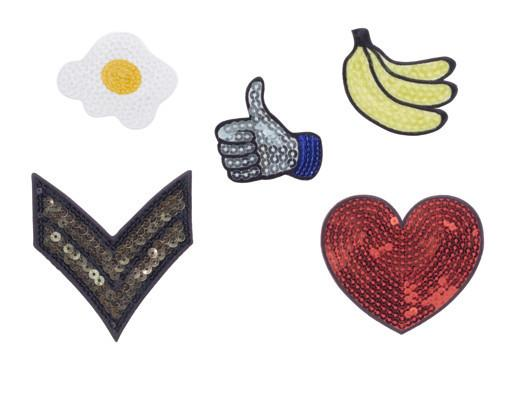 sequins iron on patches