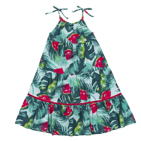 mid calf watermelon dress