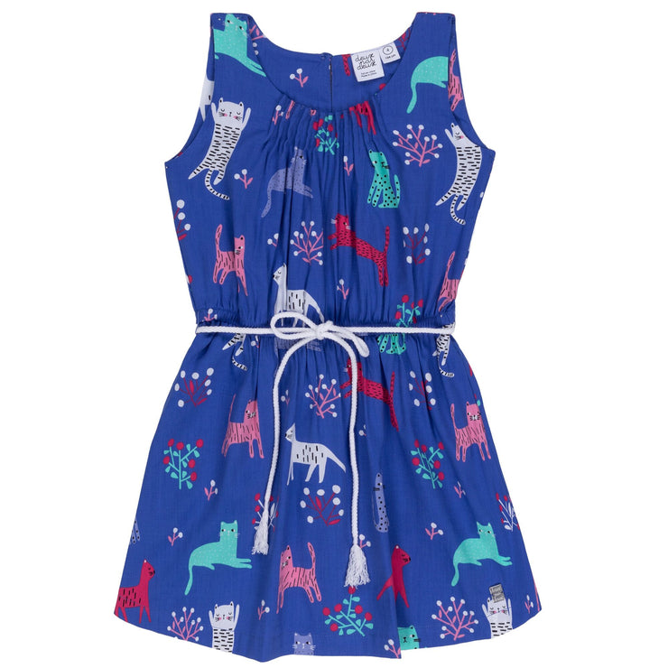 Purple Cat Printed Viscose Dress