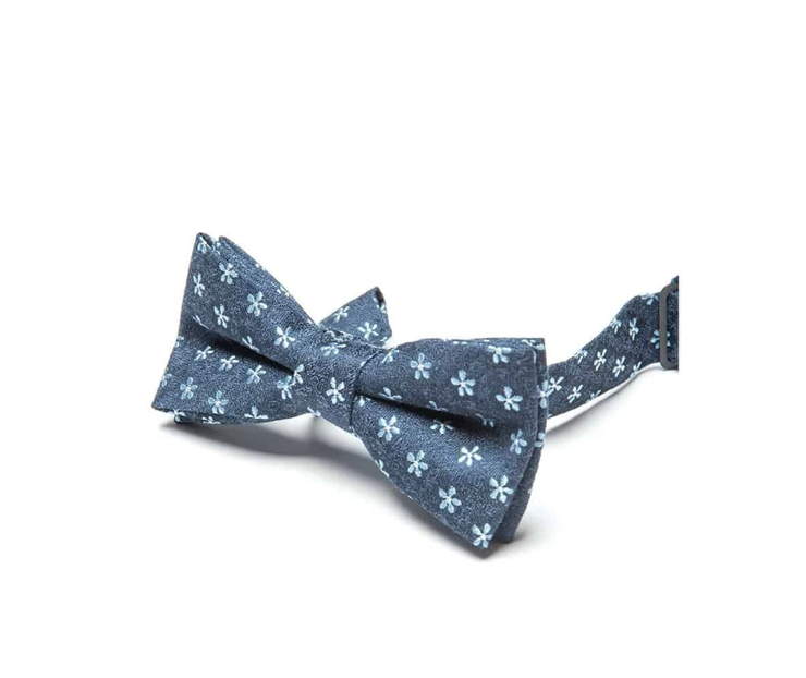 Blue Anchors Bow Tie