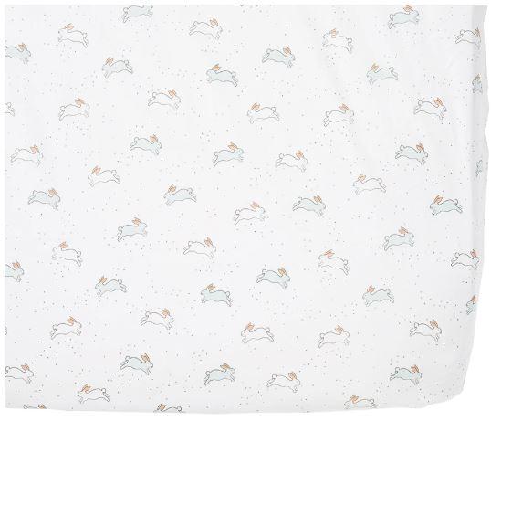 Crib Sheet in Tiny Bunny
