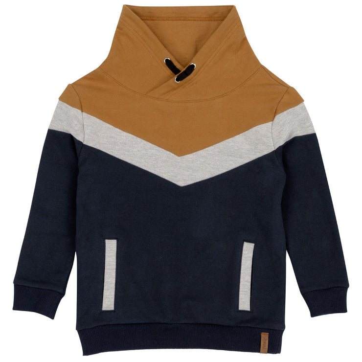 Fleece Sweatshirt With Funnel Collar