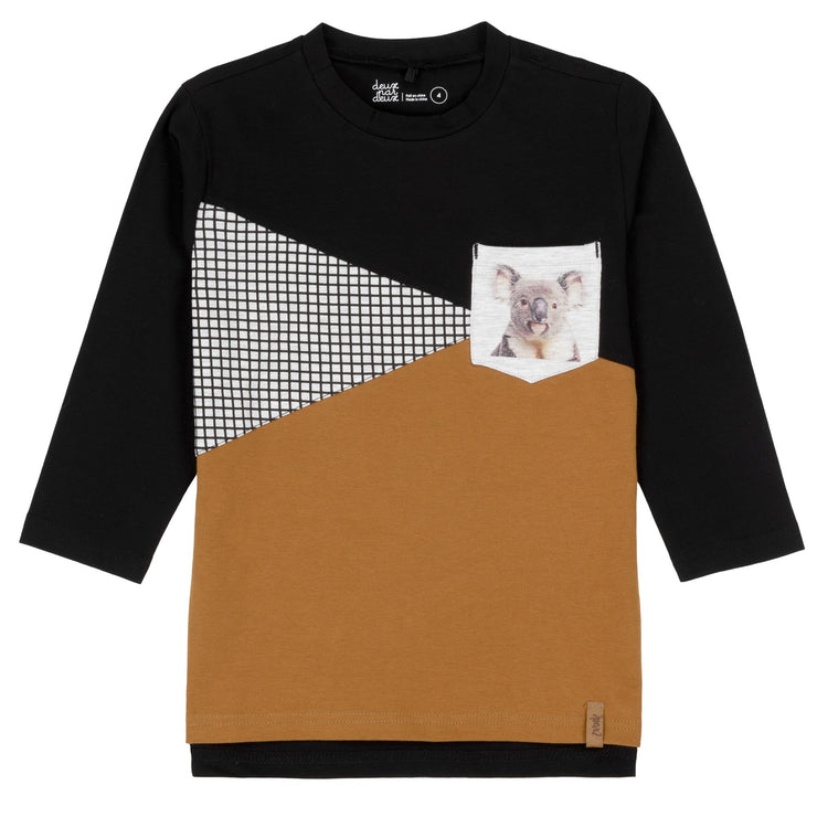 Long Sleeve T-Shirt With Inserts & Koala Pocket