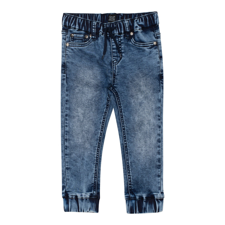 French Terry Jogger Jeans in Blue