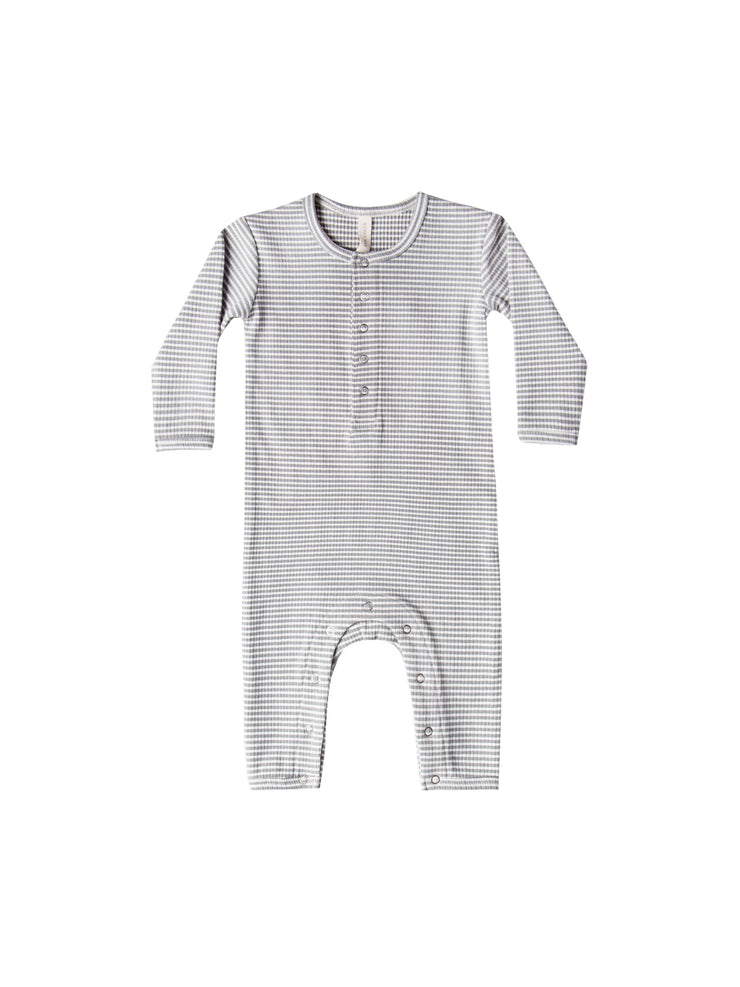 Ribbed Baby Jumpsuit In Eucalyptus Stripe