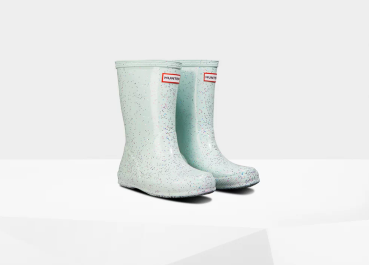 Original Kids First Giant Glitter Rain Boots: Spearmint