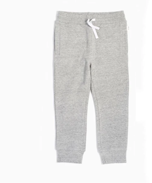 Heather Grey Knit Joggers