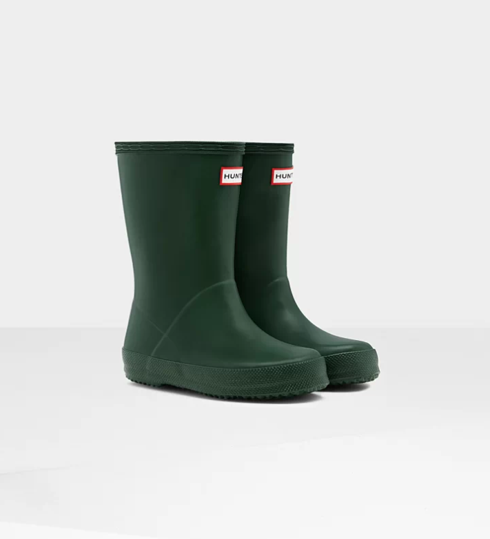 Matte Hunter Green Kids First Classic Rain Boot