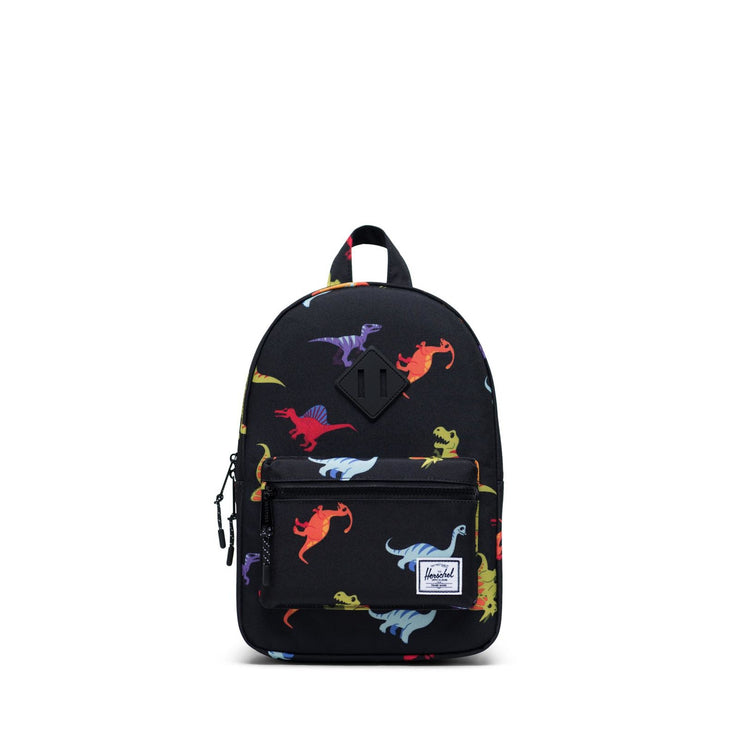 Youth Heritage Dino Black Backpack