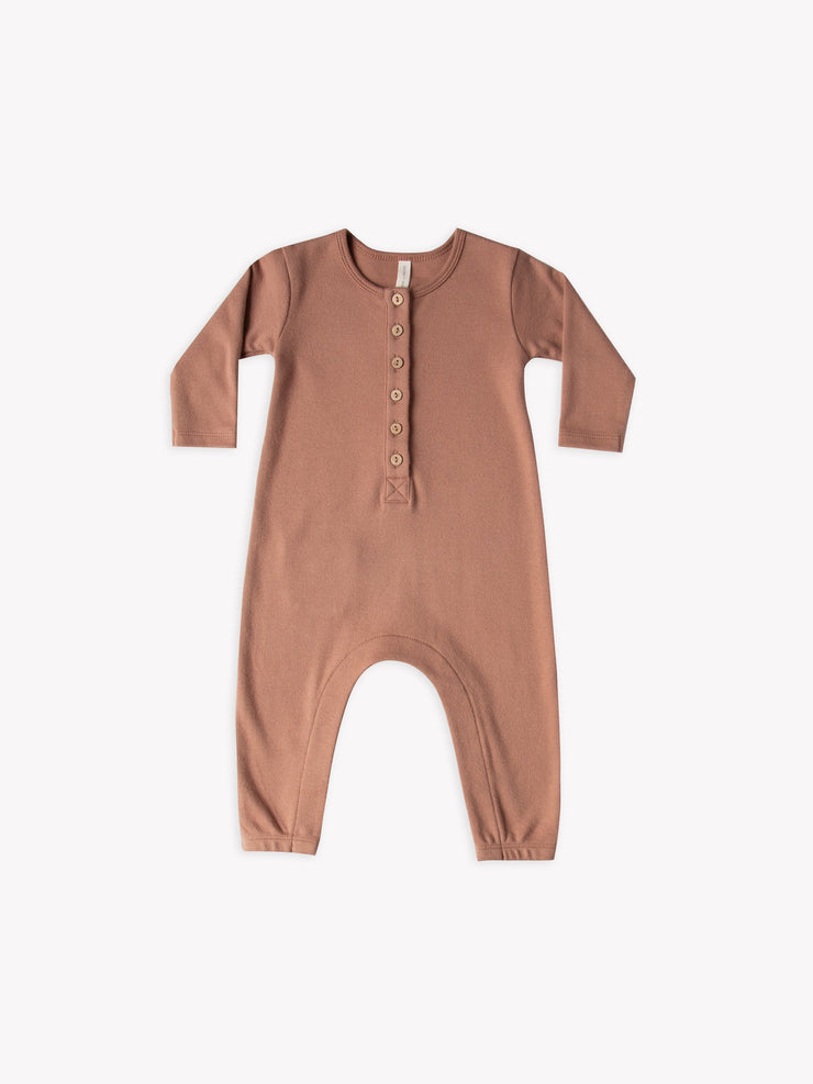 Longsleeve Jumpsuit in Clay