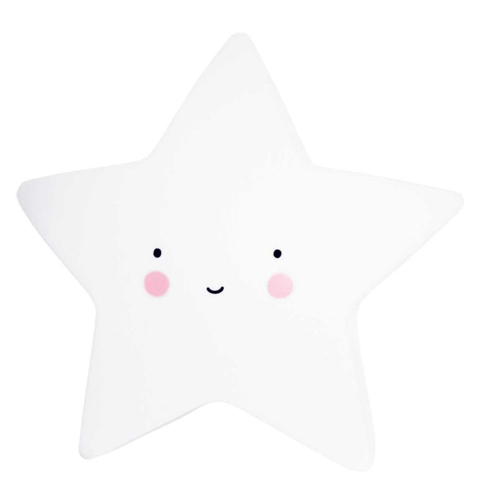 white star night light