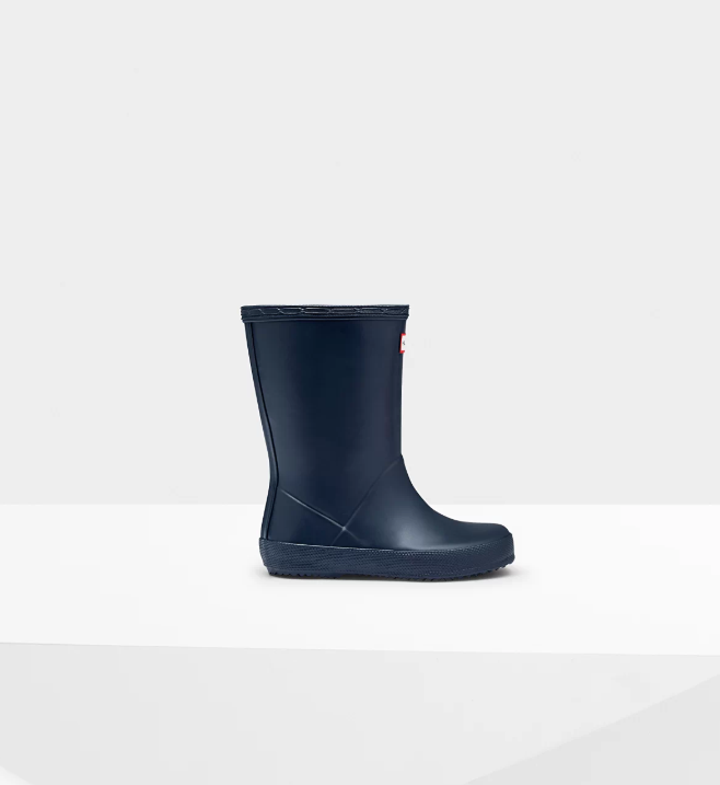 kids first classic hunter navy matte boot